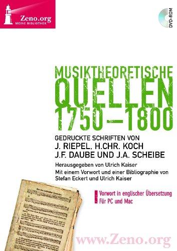Preisvergleich Produktbild Zeno.org 015 Musiktheoretische Quellen 1750-1800 (PC+MAC-DVD)
