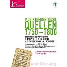 Zeno.org 015 Musiktheoretische Quellen 1750-1800 (PC+MAC-DVD)