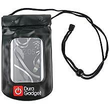 DURAGADGET Funda Impermeable Negra Para Smartphone BQ Aquaris X5 Plus / E4 / E4.5 / E5s / E5 FHD - Su Smartphone Siempre Protegido
