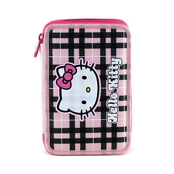 Hello Kitty 23890 – Estuche Doble Completo para Escuela