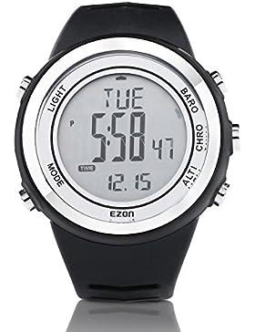 [Gesponsert]EZON H009 Herren Sportuhr Wandern Watch Outdoor Wasserdichte Kletteruhr mit Kompass Barometer Höhenmesser Thermometer...