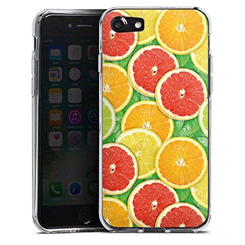 Apple iPhone X Silikon Hülle Case Schutzhülle Zitrone Sommer Trend Orange Silikon Case transparent