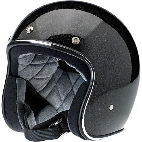 Preisvergleich Produktbild Biltwell Bonanza Helmet (Black/Gold, Medium) (Mini Flake) by Biltwell