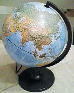 Lampe globe double apparence, diamètre = 30 cm ; Lampe allumée = carte politique ; Lampe éteinte = carte physique Inclus: Adaptateur secteur !