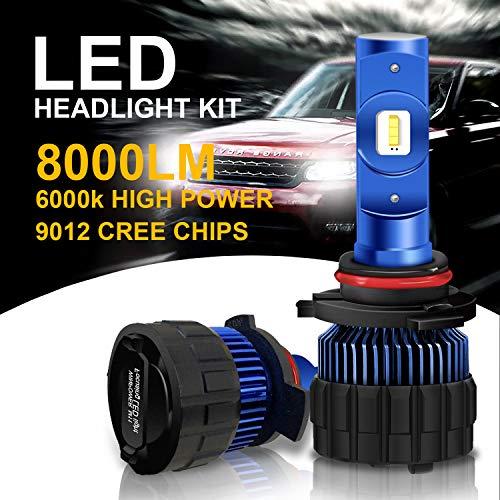 Win Power-9012(HIR2) LED Auto Fari Lampadina-6000 K 8000Lm Nessun Errore Extra Luminoso Super White-12 V Car Headlight Bulbs,2 Pezzi