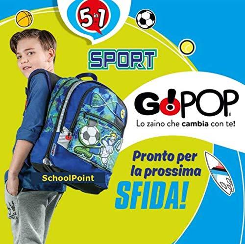 Giochi Preziosi Gopop 19 Zaino Eestensibile Sport Sacca, 43 cm, Multicolore