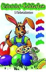 Idea Regalo - Colori per uova di Pasqua, uso a freddo, 5 colori