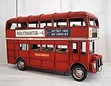 LB H&F Lilienburg Bus Blechauto Deko Antik 32cm groß handgefertigtes Blechmodell im Vintage Design