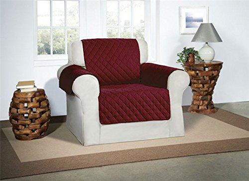 Burgund / Wein Sesselbezug Salondeckel - Möbelschutz Gestepptes Luxusdeckel