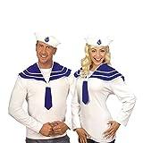 Matrosen Kragen Halstuch blau mit Matrosenhut Collar Matrosenset Set Matrosenkragen Fasnet Fastnacht Kostüm Zubehör Seemann
