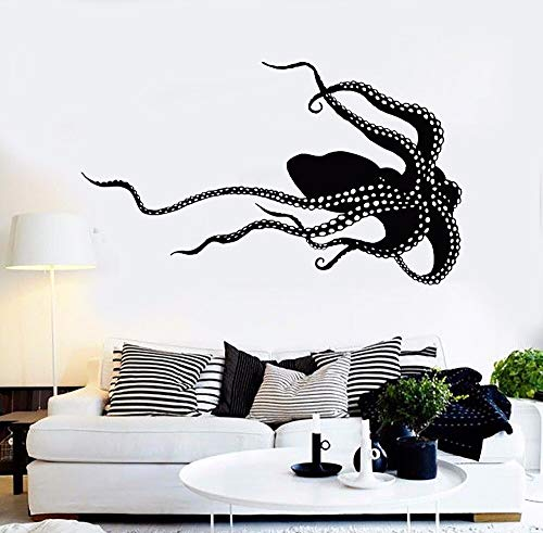 octopus monster sea animals vinyl wandtattoo wohnkultur wohnzimmer diy kunst wandbild abnehmbare wand sticke 73x43 c (Kunst Monster Sea)