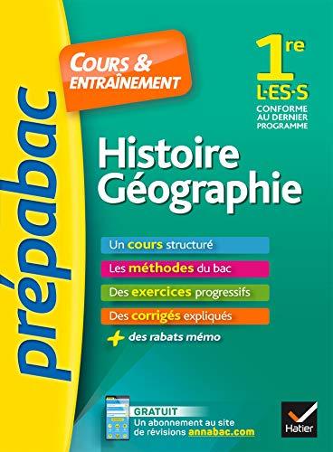 Histoire-Géographie 1re L, ES, S - Prépabac Cours & entraînement: cours, méthodes et exercices progressifs (première L, ES, S) par Christophe Clavel
