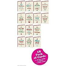 """Texto en inglés """"–18unidades de tarjetas de Navidad–Turquía Sandwich gama"""