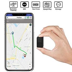 PANNOVO GPS Tracker Mini tragbare GPS Tracker Locator für Kinder ältere Hunde Kinder Auto