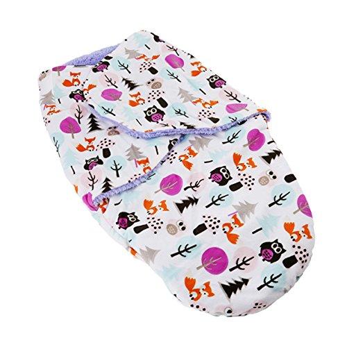 Lalang Baby-Schlafsack, Ganzkörper Pucksack Wickeln Swaddle Strampelsack (lila)