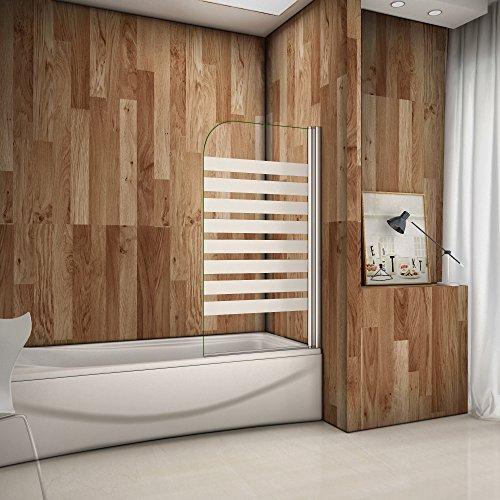 80x140cm Badewannenaufsatz Duschabtrennung Rechts Duschwand für Badewanne 6mm Satiniert S