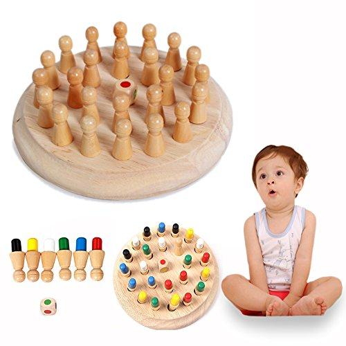 OFKPO Holz Spielzeug,Memory Schach Spiel Pädagogische Spielzeug Geschenk für Ihre Kinder