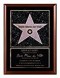 Persönlicher Hollywood Stern im Walk of Fame Stil - Star of Fame Urkunde für Mamas, Papas oder Wunschtext auf spezieller Holzplatte 23 x 30,6 cm, Motiv:Motiv 01