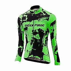 Uglyfrog 2018 Damen Neue Winter Jersey Thermisches Fahrradtrikot Vlies Thermo Langarm Shirt Women Breathable Radfahren Fahrrad lange Hülsen Fahrrad Hemd Frauen Langarm Fahrradbekleidung