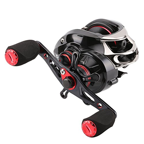 SEAKNIGHT Viper Baitcast-Angelrolle 6.3: 1-Baitcast-Rolle Zentrifugal & magnetisch Bremse Carbon Max Drag 7,5kg/16.5LB, VIPER 6.3 Right -