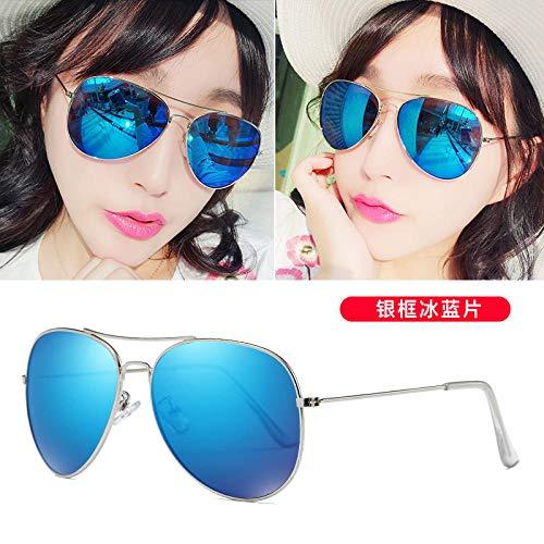 CYCY Neue Sonnenbrille weibliche 2017 koreanische Version des Paares Modelle Männer Fahrerspiegel Sonnenbrille blau grün, eisblau