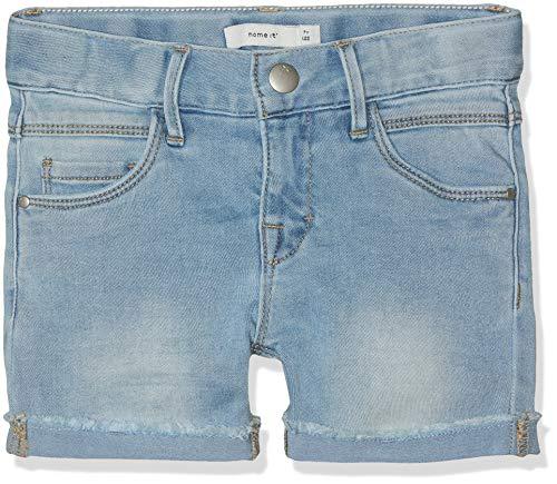 Name IT NOS Mädchen Shorts NKFSALLI DNMTIMONE 1156 NOOS, Blau (Light Blue Denim), (Herstellergröße: 158) - Mädchen Jeansshorts