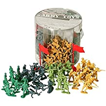 Army Toys Bucket of 200 Assorted Military Army Soldier Men with Weapons / Flags by Boys toys
