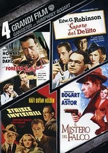 4 grandi film - Gangsters con Humphrey Bogart - La foresta pietrificata + Il sapore del delitto + Strisce invisibili + Il mistero del falco