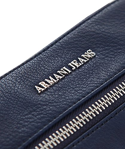 Armani Jeans Uomo Borsello piccolo in ecopelle Blu Blu