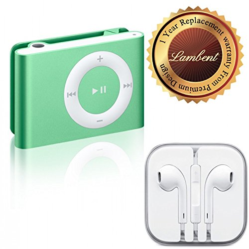 Lambent Colorful Metal Body Mini Clip MP3 player & Earphones 3.5mm Jack With Mic For Apple iPhone5,6 / iPad / iPod