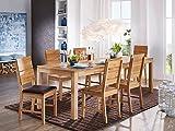 moebel-eins Kai Massivholz Esstischstuhl/Sitzfläche PVC braun, Kernbuche, lackiert