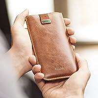 Sony Xperia Tasche Etui Cover Case Leder Hülle personalisiert durch Prägung mit ihrem Namen, Monogramm für XZ1 XA1 Plus L1 E5 X Compact Performance X2 XA1 XZ Premium XZs Z1 Z3 Z5