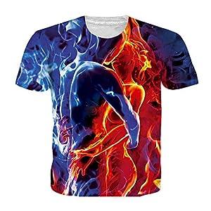 ZzSTX Abstrakte Sommer T Shirt 3D Print Männer Frauen Plus Größe T-Shirt Casual Unisex Streetwear