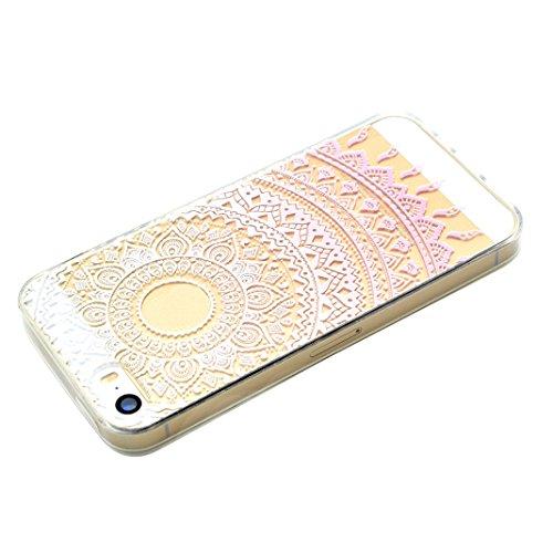 Schutzhülle iPhone 7 Plus 5.5 Zoll Case, iPhone 7 Plus Handyhüllen, iPhone 7plus Silikon Cover, Moon mood® Soft Schutzhülle für Apple iPhone 7 Plus Ultra Thin Dünn Weiche TPU Schutz Etui Cover, iPhone 2-Rosa Muster
