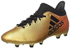 Idea Regalo - adidas X 17.3 FG, Scarpe da Calcio Uomo, Oro Tagome/Cblack/Solred, 41 1/3 EU