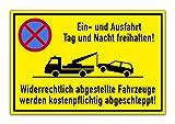 KAVARO SchildEin- und Ausfahrt freihalten [30x20cm] Hartschaumplatte