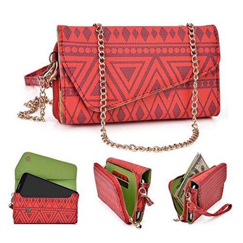 Kroo Pochette/étui style tribal urbain pour Alcatel Hero 2/Pop S9 Multicolore - Rose Multicolore - rouge