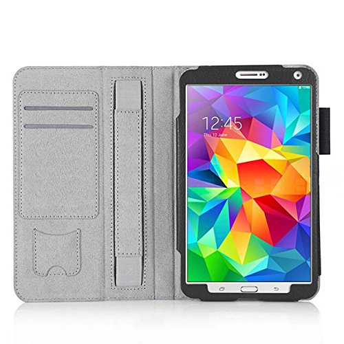 Bepak® Flip Cover For Galaxy Tab S 8.4 Pu Leather Kickstand Case Cover For Samsung Galaxy Tab S 8.4 (black)