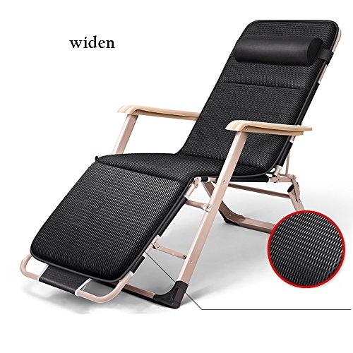 Stühle Lounge Chair Multifunktionale Klappstuhl Bett Mittagspause Home Freizeit Karussell Strand Herbst/Winter Abnehmbare Baumwolle Pad hochfeste Tragfähigkeit (Farbe : C)