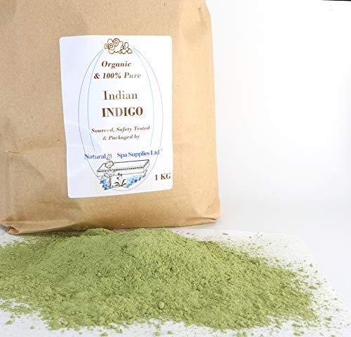 Natural spa Supplies Ltd Organic indiano Indigo polvere colorante per capelli