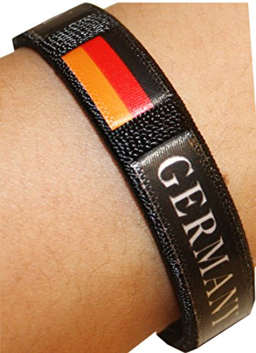 Sonia Originelli 10er SET Fan Armbänder Deutschland Fußball Fanartikel Armreif WM EM FA022