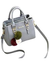 Gaddrt Sac à bandoulière en cuir Celebrity Tote sac de voyage grand pour femmes dames (Rose)