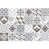 Ambiance-Live Carreaux de Ciment adhésif Mural - azulejos - 20 x 20 cm -24 pièces