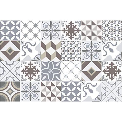 Cuadros de Cemento Adhesiva Pared-Azulejos-20x 20cm -24Piezas