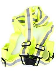 HealthPanion 1 Set de Chaleco reflectante de seguridad. Alta visibilidad para deportes en exteriores, tales como correr, ciclismo y caminatas.