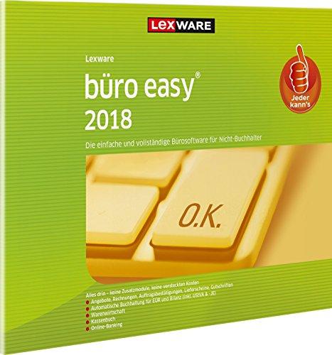 Lexware büro easy 2018 | (Jahreslizenz) für Kleinunternehmer und Existenzgründer | Bürosoftware mit Basisfunktionen | Kassenbuch | Warenwirtschaft u.w. | Kompatibel mit Windows 7 oder aktueller | FFP