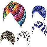 Fascigirl Sombrero Turbante Plisado Turbante Multicolor Sombrero Abrigo del Pelo para Las Mujeres
