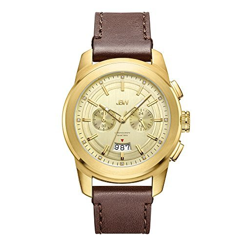 JBW Men's Mohawk 0.12 ctw Diamond Chronograph Leather Watch - J6352B