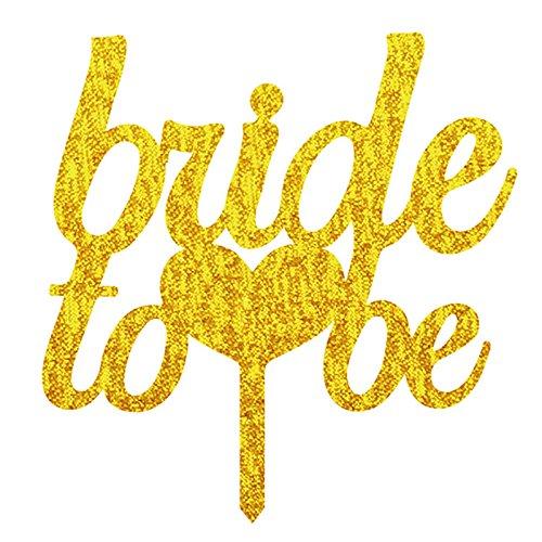 Lanlan Hochzeit Tortenaufsatz Acryl Shining Bride Groom Engagement Jahrestag Kuchen Dekoration Golden Bride to (Dr Seuss Kuchen Dekorationen)