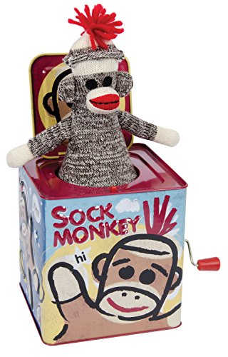 Schylling BLECH Jack in the Box Sock Monkey SMJB | 4822